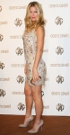 Bar Rafaeli in an embellished Roberto Cavalli mini dress with nude heels