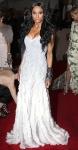 Ciara in a silver silk chiffon & organza Prabal Gurung gown