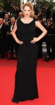 Doutzen Kroes in a black peplum gown