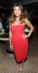 Jamie-Lynn Sigler in a red MaxMara cocktail dress