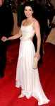 Julianna Margulies in an ivory silk embroidered Narcisa Rodriguez gown
