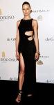 Karolina Kurkova in a black cutout Emilio Pucci gown