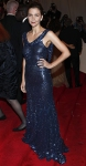 Maggie Gyllenhaal in a navy sequined Stella McCartney gown