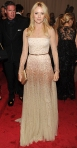 Naomi Watts in a nude tulle beaded Stella McCartney gown