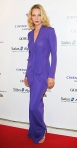 Uma Thurman in a royal purple Roland Mouret gown