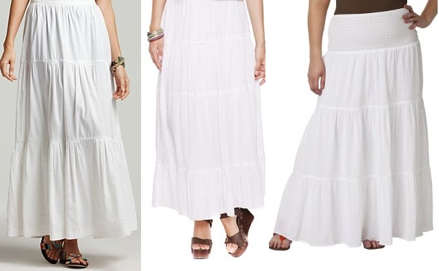 luxury look alikes for less white tiered peasant skirts