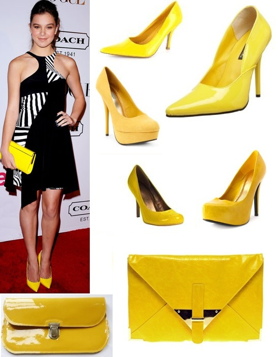 7a608ea0dd11 Color Me Style  I m Crazy for Hailee Steinfeld s Yellow Accessories ...