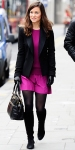 Pippa Middleton in a pink Sonia Rykiel dress with a black blazer