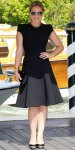 Abbie Cornish in a cap sleeve Elie Saab LBD with a Salvatore Ferragamo clutch