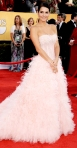 Angie Harmon in a pink ballerina-inspired Monique Lhuillier gown