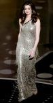 Anne Hathaway in a silver fringed Oscar de la Renta gown