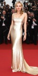 Diane Kruger in a liquid gold Calvin Klein Collection gown