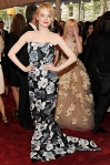 Emma Stone in a floral Lanvin column gown