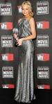 Emma Stone in a silver Balenciaga by Nicholas Ghesquiere gown