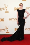 Evan Rachel Wood in a black sequin Elie Saab gown with a Judith Leiber bag
