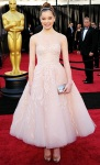 Hailee Steinfeld in a blush tulle tea-length Marchesa dress
