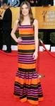 Hailee Steinfeld in a striped Prada gown