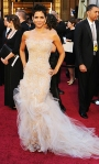 Halle Berry in a crystal-encrusted Marchesa gown