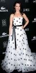 Kristin Davis in a polka dot Oscar de la Renta gown
