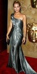 Maria Bello in a gunmetal Donna Karan gown with Rene Caovilla heels & a Judith Leiber clutch