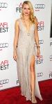 Naomi Watts in a sequin Stella McCartney slitted gown with Cartier jewelry