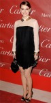 Natalie Portman in a studded silk Vionnet dress with Cartier earrings & Christian Dior heels