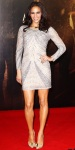 Paula Patton in a metallic Naeem Khan mini dress with studded Christian Louboutin stilettos