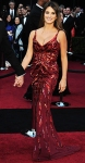 Penelope Cruz in a crimson silk sequined L'Wren Scott gown