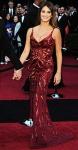 Penelope Cruz in a crimson silk sequined L'Wren Scott gown
