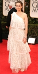 Amanda Peet in a tiered Marc Jacobs gown