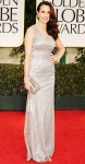 Andie MacDowell in a one-shoulder David Meister gown