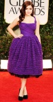 Ariel Winter in a purple Dolce & Gabbana cocktail dress