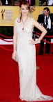 Berenice Bejo in a metallic Ralph Lauren Collection halter gown