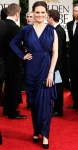 Emily Deschanel in a blue BCBG Max Azria gown