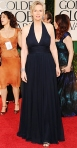 Jane Lynch in a silk chiffon David Meister gown