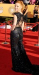 Jayma Mays in a black sequined gown
