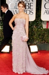 Jessica Alba in a beaded Gucci gown with Bulgari jewelry