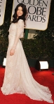 Jessica Biel in a long-sleeve Elie Saab gown
