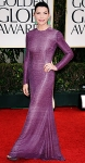 Julianna Margulie in a beaded purple Naeem Kham gown