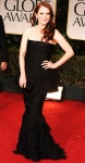 Julianne Moore in a strapless black Chanel gown