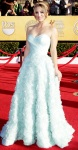 Kaley Cuoco in an aquamarine ballgown