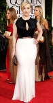 Kate Winslet in a black & white crystal embellished Jenny Packham gown with Roger Vivier shoes