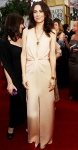 Kristen Wiig in a nude Bill Blass halter gown
