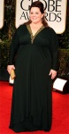 Melissa McCarthy in a black Badley Mischka gown
