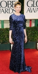 Michelle Williams in a velvet embroidered Jason Wu gown