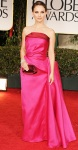 Natalie Portman in a red & pink Lanvin gown