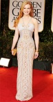 Nicole Kidman in a white & gold embellished Versace gown