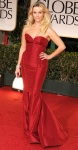 Reese Witherspoon in a red strapless Zac Posen dress