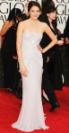 Shailene Woodley in a white lace illusion Marchesa gown