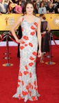 Shailene Woodley in an embroidered printed L'Wren Scott gown